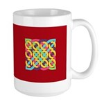 Celtic 12 Circles - Bright Large Mug