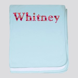 Whitney Pink Flowers baby blanket