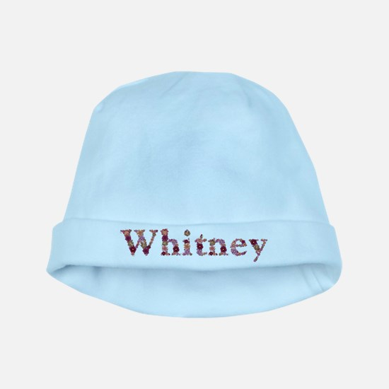 Whitney Pink Flowers baby hat