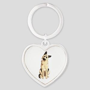 German Shepherd Heart Keychain