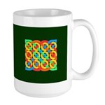 Celtic 12 Circles on Green Large Mug