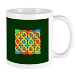 Celtic 12 Circles on Green Mug