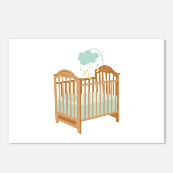 Crib with Sky Mobile Postcards (Package of 8)
