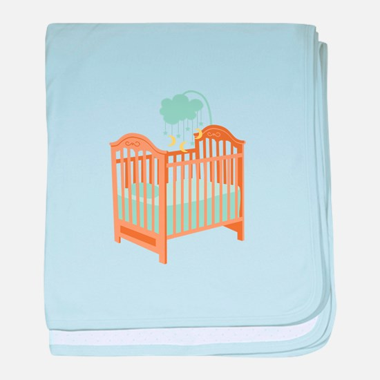 Crib with Sky Mobile baby blanket