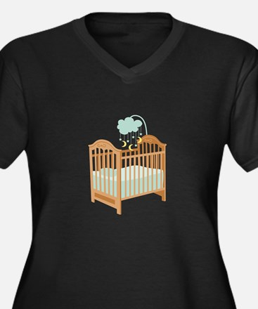 Crib with Sky Mobile Plus Size T-Shirt