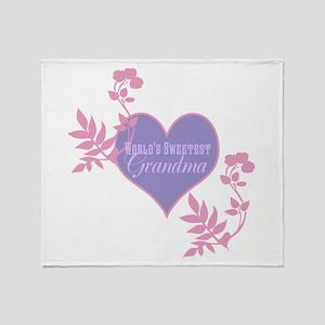 Worlds Sweetest Grandma Throw Blanket
