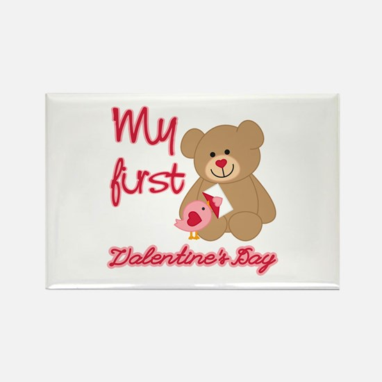 My First Valentines Day Rectangle Magnet (10 pack)