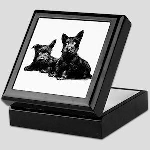 SCOTTIE DOGS Keepsake Box