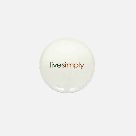 Live Simply Mini Button