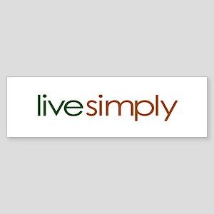 Live Simply Bumper Sticker