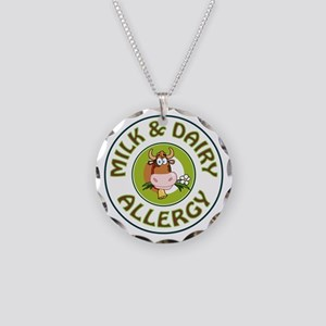 MILK & DAIRY ALLERGY Necklace Circle Charm