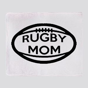 Rugby Mom Throw Blanket