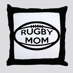 Rugby Mom Throw Pillow