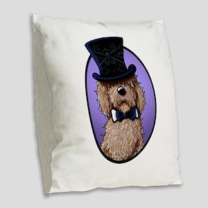 Fancy Chocolate Burlap Throw Pillow