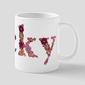 Vicky Pink Flowers Mugs