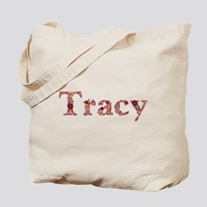 Tracy Pink Flowers Tote Bag