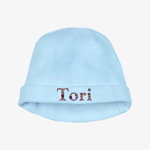 Tori Pink Flowers baby hat