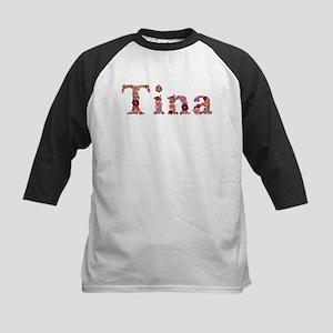 Tina Pink Flowers Baseball Jersey