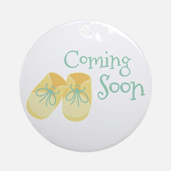 Coming Soon Ornament (Round)