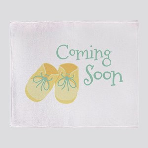 Coming Soon Throw Blanket
