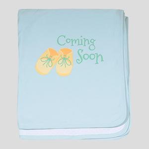 Coming Soon baby blanket