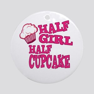 Half Girl Half Cupcake Ornament (Round)