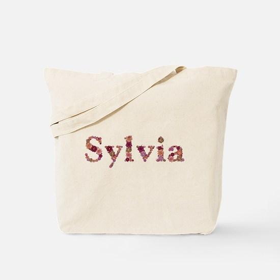 Sylvia Pink Flowers Tote Bag
