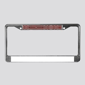 Red Geek Motherboard Circuit P License Plate Frame
