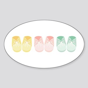 Triplets Bootie Border Sticker