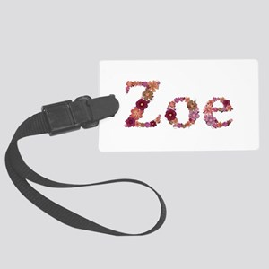 Zoe Pink Flowers Large Luggage Tag