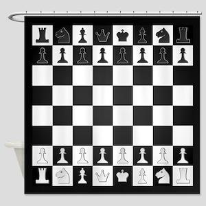 Chessboard Shower Curtain