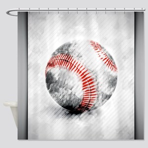 Cool Baseball Shower Curtains