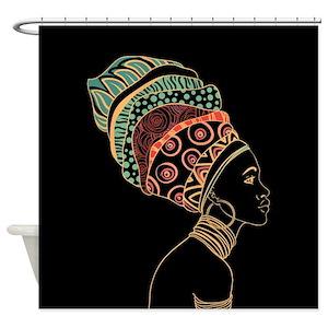 Black Woman Shower Curtains