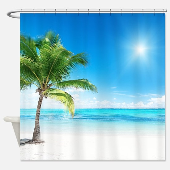 Beautiful Beach Shower Curtain