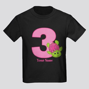 Personalized Pink Turtle 3Rd Birthday Kids DK T