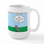 Tinkles Won't Fetch Large Mug