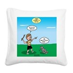 Tinkles Won't Fetch Square Canvas Pillow