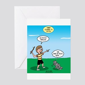 Tinkles Won't Fetch Greeting Card