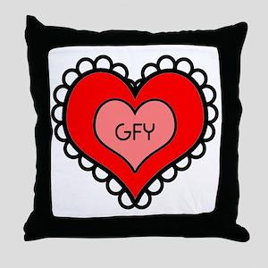 GFY Heart Throw Pillow