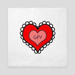 GFY Heart Queen Duvet