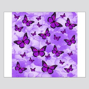 PURPLE FLOWERS AND BUTTERFLIES Posters