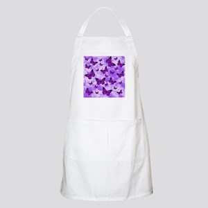 PURPLE FLOWERS AND BUTTERFLIES Apron