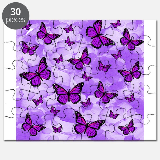 PURPLE FLOWERS AND BUTTERFLIES Puzzle