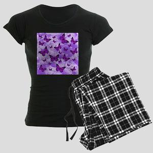 PURPLE FLOWERS AND BUTTERFLIES Pajamas