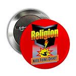 Religion: Kills Folks Dead! Button (100 pack)