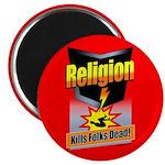 Religion: Kills Folks Dead! Magnet (100 pack)