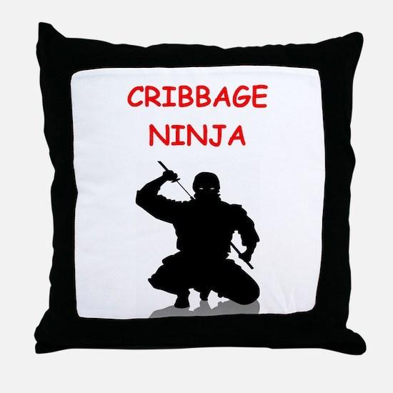 crrbbage Throw Pillow