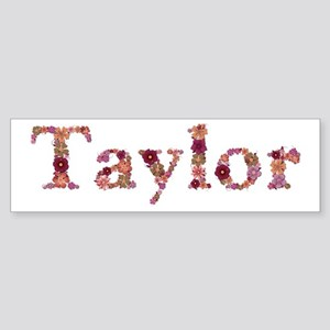 Taylor Pink Flowers Bumper Sticker