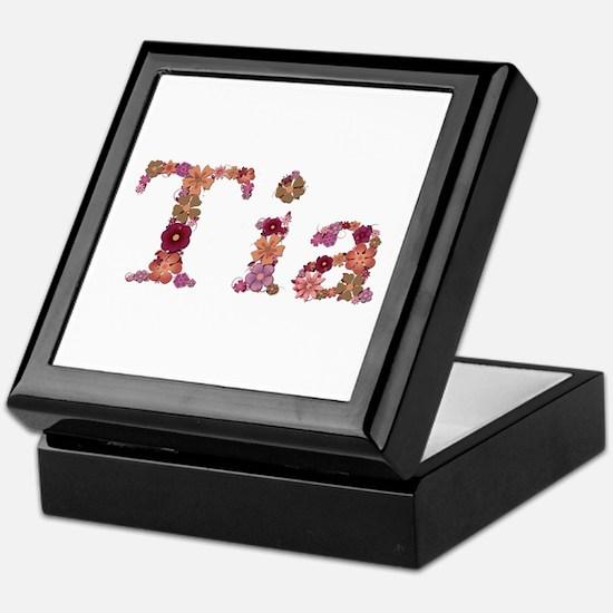 Tia Pink Flowers Keepsake Box