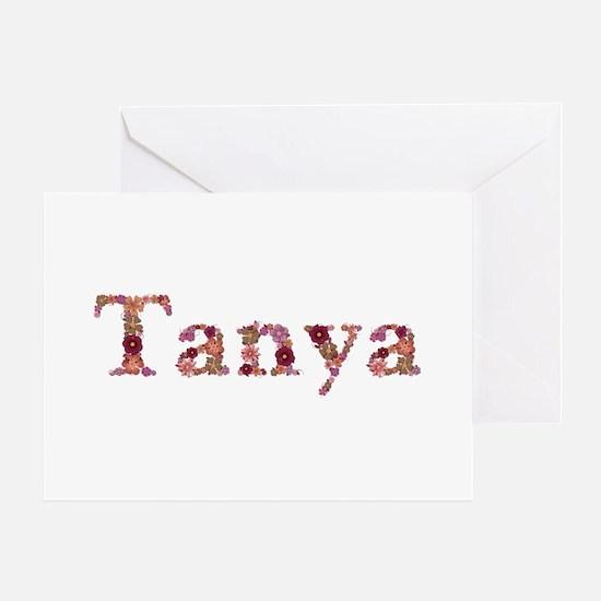 Tanya Pink Flowers Greeting Card